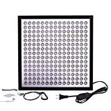 Niello ultra-thin & ultra-light LED Grow Light Panel 75W 225 LEDs 6-Band Full Spectrum Include UV IR for Indoor Plants Growing(Black) (75W)