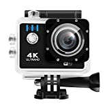 Action Camera, HEIHEI 1080P 4K Ultra HD 2.0 Inch 170 Degree Ultra-Wide Angle Lens Waterproof Wireless Sports Camera Diving Cam DV Camcorder Kit with 20 Accessories