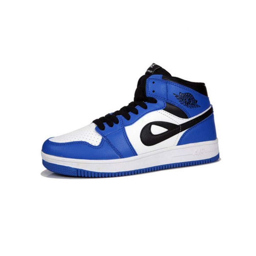 FH High-Top-Schuhe koreanische Freizeitschuhe Hip-Hop-Sportschuhe Frauen (Farbe   Blau Weiß Größe   EU39 UK6.5 CN40)