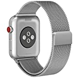 For Apple Watch Band 42mm Silver iWatch Band Milanese Mesh Loop Magnetic Closure Clasp Stainless Steel for Apple Watch Series 3 Series 2 Series 1 Sport and Edition