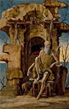 'Italian Saint Jerome In The Wilderness,c 1470 By Ercole De'Roberti' Oil Painting, 8x12 Inch / 20x32 Cm ,printed On Perfect Effect Canvas ,this Best Price Art Decorative Canvas Prints Is Perfectly Suitalbe For Home Office Decor And Home Gallery Art And Gifts