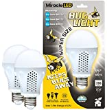 Miracle LED 604734 7 Watt Super Bug Light, Bug Free Porch and Patio Light, Yellow, 2-Pack