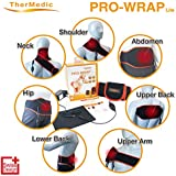 SPECIAL OFFER 45.99 TherMedic PW140L - 6 in 1 Far Infrared Neck and Shoulder Heating Pad (Hot/Warm Therapy for Pain Relief and Muscle Relaxation)