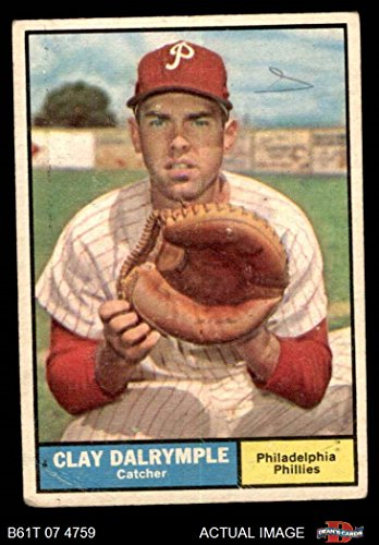 1961 Topps # 299 Clay Dalrymple Philadelphia Phillies (Baseball Card) Dean's Cards 2 - GOOD Phillies