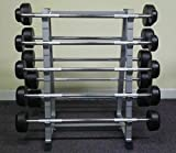 PowerFit Fixed Weight Barbell Set