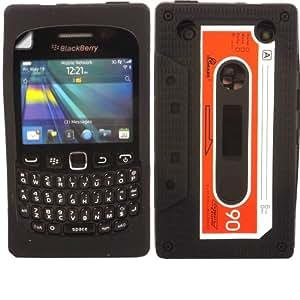 Cassette Silicona Cubrir Caso Piel Y Pantalla LCD De Guardia Para Blackberry Curve 9220 9320 / Black