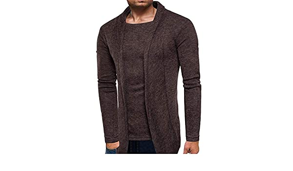 CLOOM Cárdigans para Hombre Casual Color Sólido Slim Fit Jersey De ...