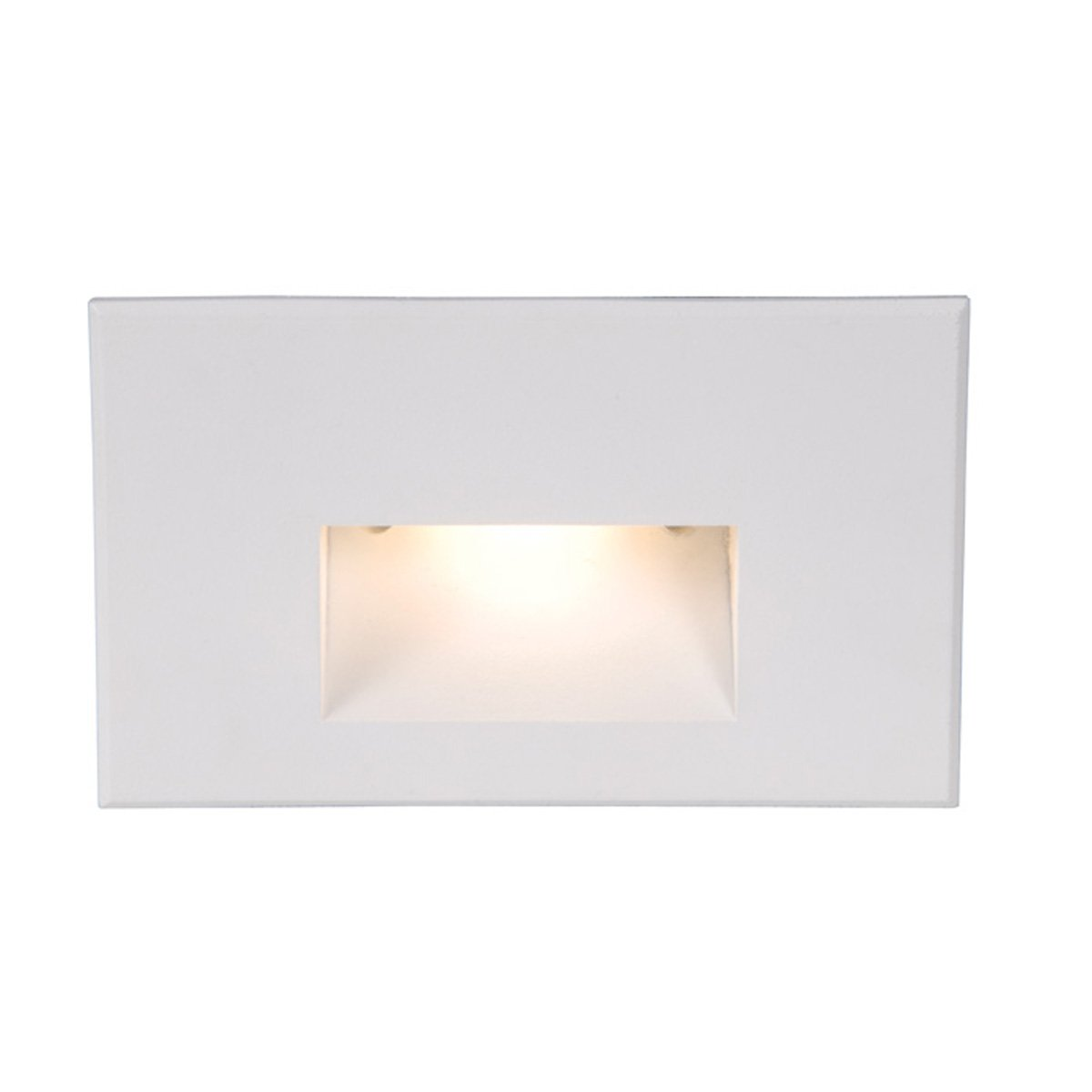 WAC Lighting WL-LED100-C-WT Rectangular Scoop 4W 120V LED Step Light with Cool White Lens and White Finish
