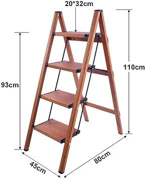 GBX Escalera Plegable de 4 Escalones, Escalera Portátil Plegable de Aluminio Antideslizante, Ligera, 4 Escalones, Escalera Doméstica, Capacidad de Carga de 150 Kg. Adecuado para Hogar/Cocina/Gara: Amazon.es: Bricolaje y herramientas