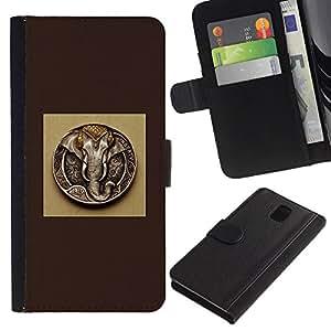 SHELLINA Foto Voltear Cuero Duro Funda Ranura Tarjeta TPU Carcasas Para Smartphone Samsung Galaxy Note 3 III N9000 N9002 N9005 - Ganesh - dios elefante