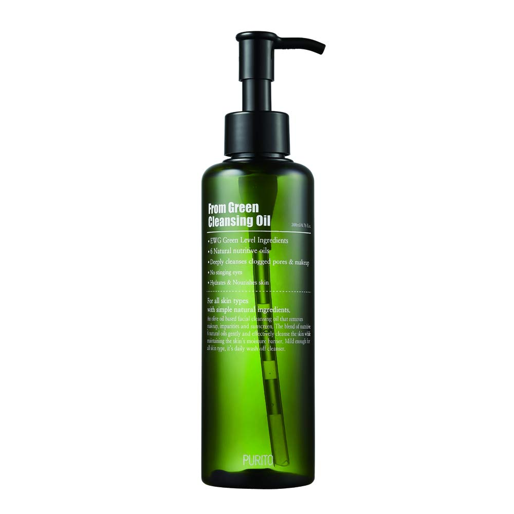 PURITO From Green Cleansing Oil 6.76 fl.oz / 200ml, Makeup Remover, Facial Cleanser, light cleansing oil, oil cleanser, EWG