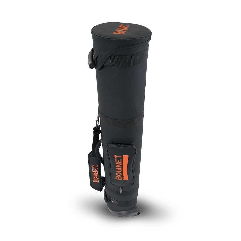 Bownet Wheeled TravelチューブCarry Bag W /ストラップ、ブラック/オレンジ。bow-travelチューブB B01D1X288E