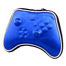 eXtremeRate® Blue Airform Hard Carry Pouch Box Case Bag for Xbox ONE Wireless Controller + Straps