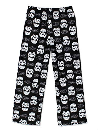 Star Wars Boys Flannel Pajama Pants (Small/6-7, Black)
