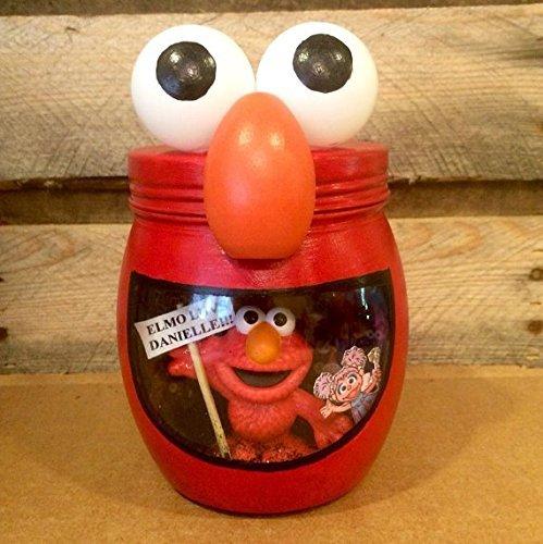 (Elmo night light. Elmo light. Sesame Street night light. Personalized Elmo LED night light, Elmo and Friends)
