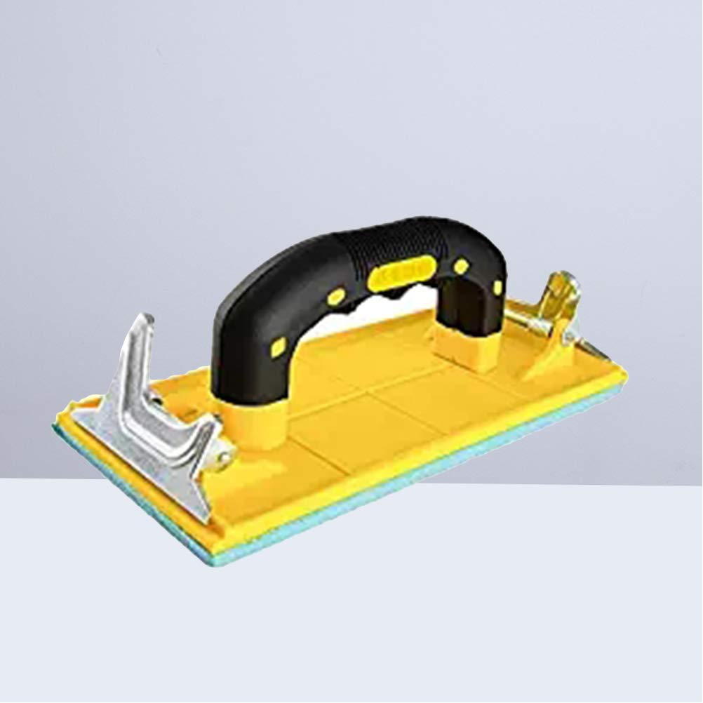 UKCOCO Schleifpapierhalter mit Handgriff Handsandpapier Rahmenschleifen Polierte Werkzeuge f/ür W/ände Holzbearbeitung Polieren Schleifwerkzeuge Schleifwerkzeuge Gelb Grifffarbe zuf/ällig