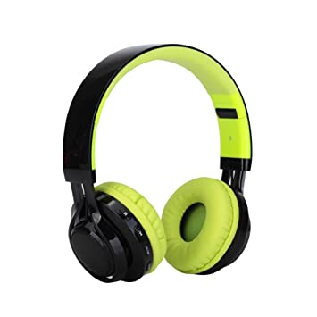 GR Auriculares estéreo inalámbricos Plegables de Bluetooth del Auricular AB005 LED con los Jugadores de Mp3 de la Tarjeta del TF del micrófono (Color ...