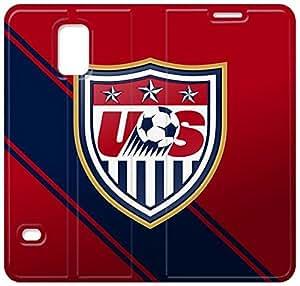 Nosotros fútbol X8X07T4 Samsung Galaxy S5 de cuero del caso del tirón funda D1H47R3 Teléfono fundas genéricos
