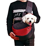 Systond Upgraded Dog Sling Carrier Pet Single Shoulder Backpack Anti-jump Out Bag Puppy Travle Tote Handbag with Cellphone Pouch and Retractable Mouth for Small Dogs Cat Rabbit Slings03
