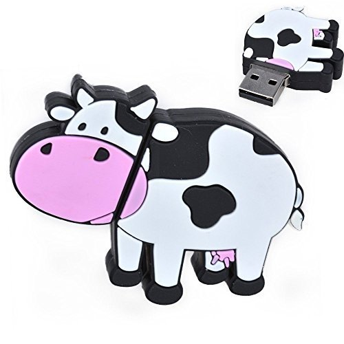 USB 2.0 Flash Drive 32GB Memory Stick for Computer Cute Cow Design Pendrive Zip Drive New Year's Gift by FEBNISCTE ()
