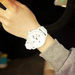 Learnin Unisex Mens Womens Quartz Analog Wrist Watch Casual Watches Life Waterproof (White)