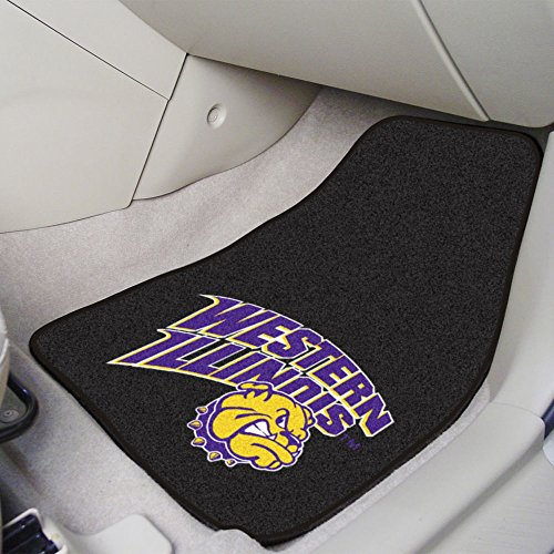 Mats University Car Illinois (Fanmats Western Illinois University 2-pc Carpet Car Mat Set/17