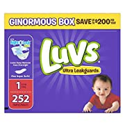 Luvs Ultra Leakguards Newborn Diapers Size 1, 252 Count by Luvs