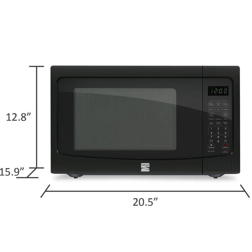 Amazon.com: Kenmore 1.2 pies cúbicos. Countertop Microondas ...