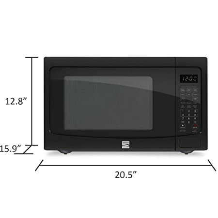 amazon com kenmore 1 2 cu ft countertop microwave w ez clean rh amazon com Kenmore Microwave Model 721 80413500 Kenmore Elite Microwave 721
