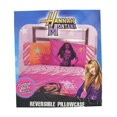 Disney Hannah Montana Pillow - Disney Bedding High School Musical Hannah Montana Pretty Rock Star Reversible Pillowcase Standard Size