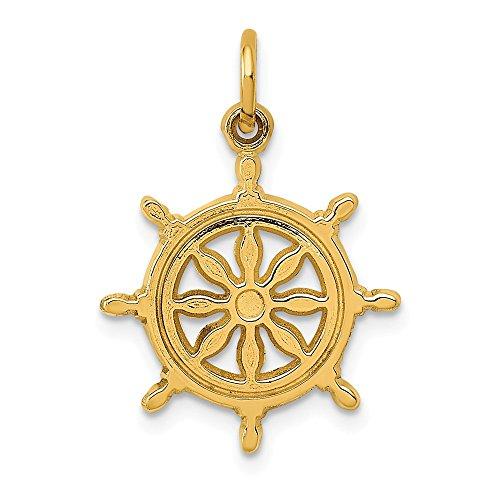 14k Ships Wheel Charm, 14 kt Yellow Gold