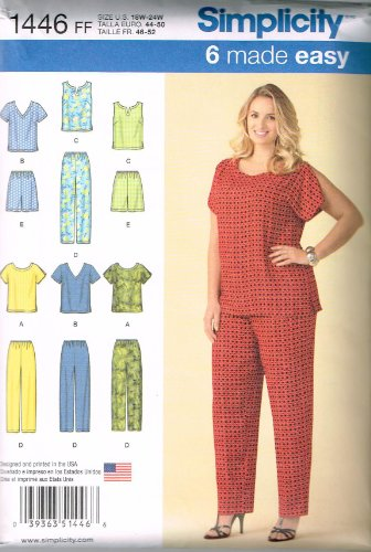 Simplicity Creative Patterns 1446 Women's Six Made Easy Pull