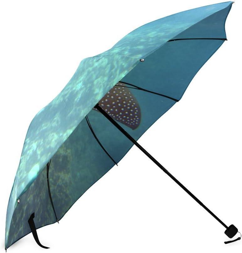 Custom Manta Ray Compact Travel Windproof Rainproof Foldable Umbrella