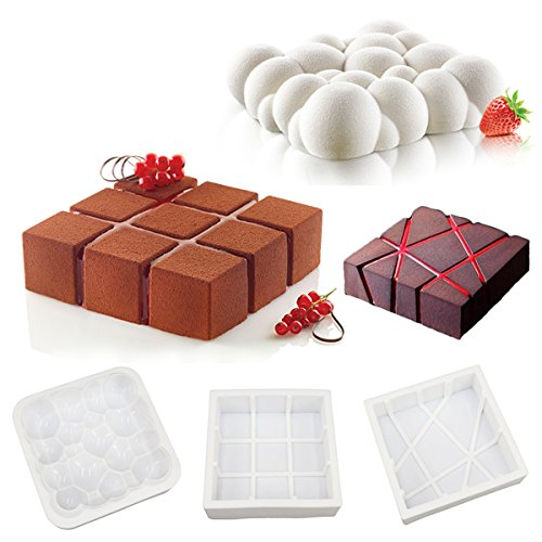 Irregular Cloud, Geometric Cube, Magma Design Silicone Mousse Cake Mould Cake Mold Silicone Flexible For Mousse Cake Breads Cornbread Cheesecake Pie Brownie