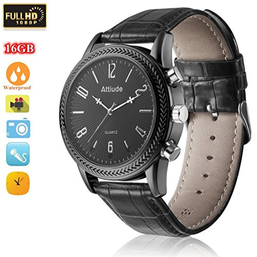 MIEBUL 16GB Wrist Smart Watch Camera HD 1080P Infrared Night Vision High-end Camera(Black) by MIEBUL