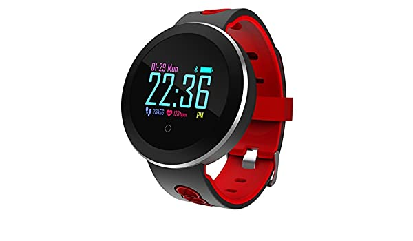 Roful Rastreador de Fitness, Q8 Pro Smartwatch IP68 Pulsera Impermeable Monitor de Ritmo Cardíaco Reloj de Pulsera de Reloj Deportivo para Android iOS: ...