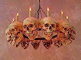 Skeletons And More Skull Chandelier w/ 12 Skulls