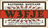 W3FJE - Baltimore, Maryland QSL & Ham Radio Original Vintage Postcard