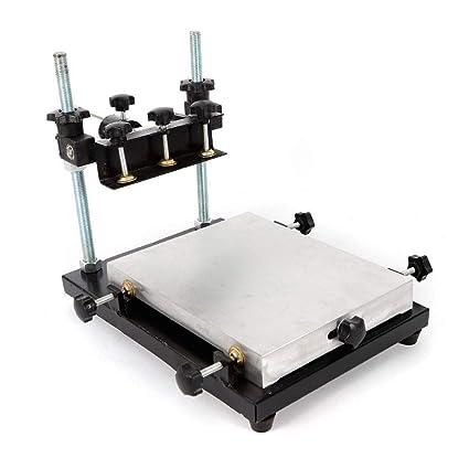 KAHE2016 Impresora manual de pasta de soldadura, PCB SMT esténcil para impresora, área de