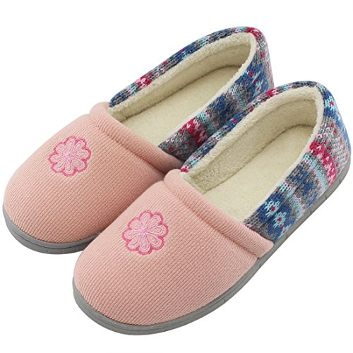 House Stripe Closed Back Summer Foam Velvet Pink Colour with Women's Slippers Shoes Memory Spring Indoor HomeIdeas Outdoor wxIqT8ZSp