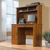 Sauder Harvest Mill Computer Desk with Hutch, Abbey Oak finish
