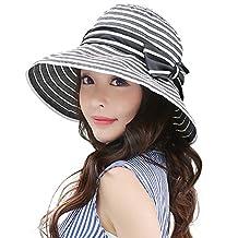 Siggi Womens UPF50+ Summer Sunhat Bucket Packable Wide Brim Hats w/ Chin Cord