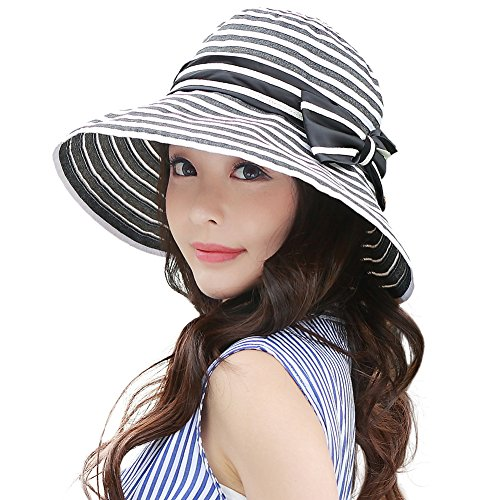 1ad45a224f6e1 Siggi Womens UPF50+ Summer Sunhat Bucket Packable Wide Brim Hats w  Chin  Cord - Buy Online in Oman.