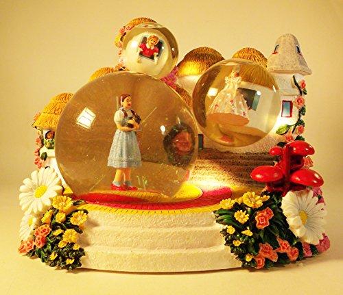 Large Musical Snowglobe - Wizard of Oz Munchinkinland Large Musical Snow Globe