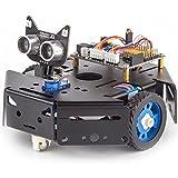KittenBot Basic Robot Kit - STEM Education - Arduino - Scratch 3.0 - Compatible with Raspberry Pi - Support Python Program - Programmable Robot Kit to Learn Coding, Robotics and Electronics (Black)