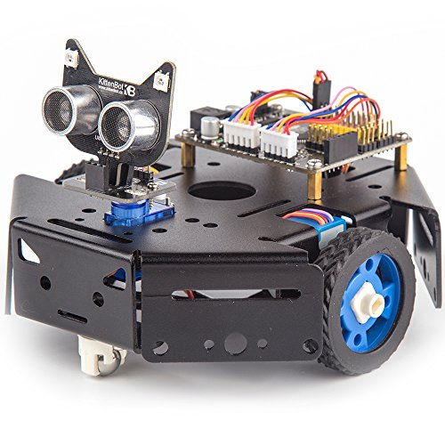 Price comparison product image KittenBot Basic Robot Kit - STEM Education - Arduino - Scratch 3.0 - Compatible with Raspberry Pi - Support Python Program - Programmable Robot Kit to Learn Coding, Robotics and Electronics (Black)