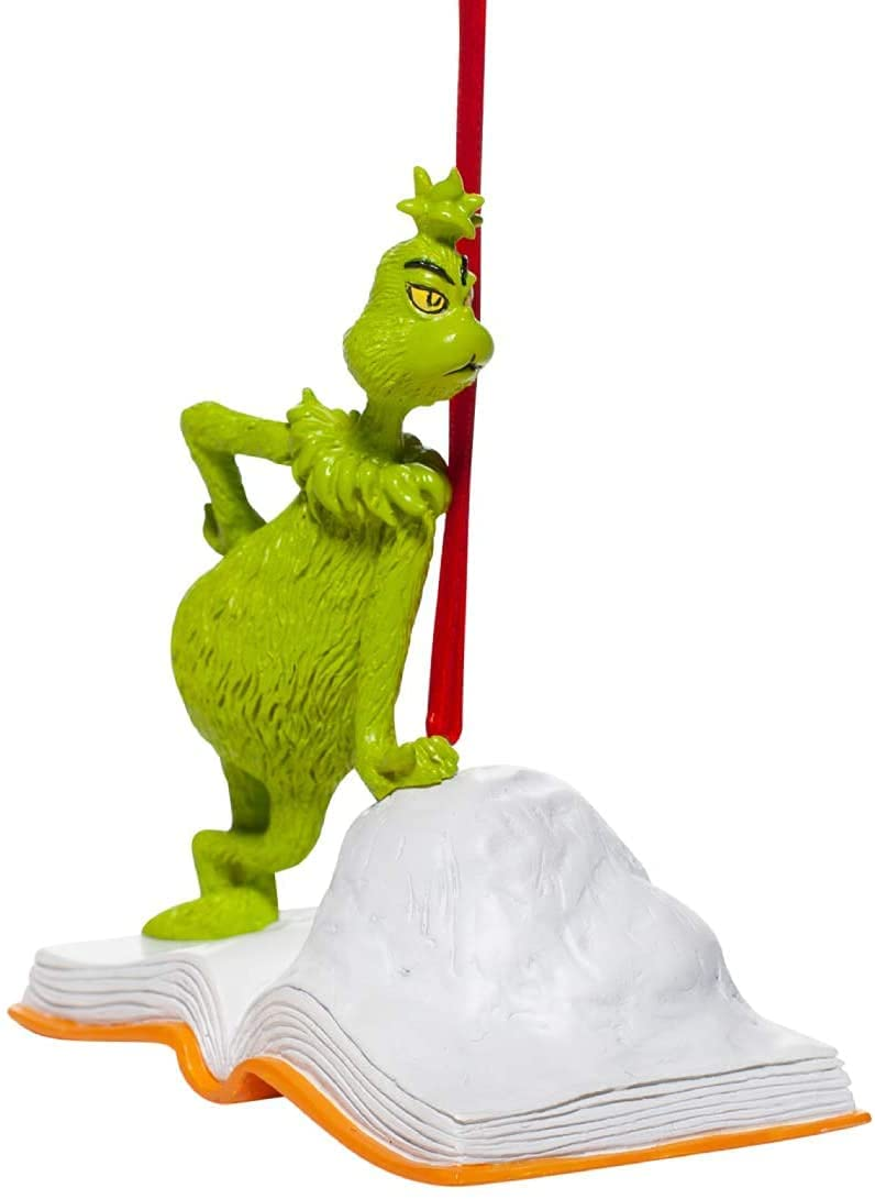 Department 56 Dr. Seuss How The Grinch Stole Christmas Open Book Hanging Ornament, 3.7 Inch, Multicolor