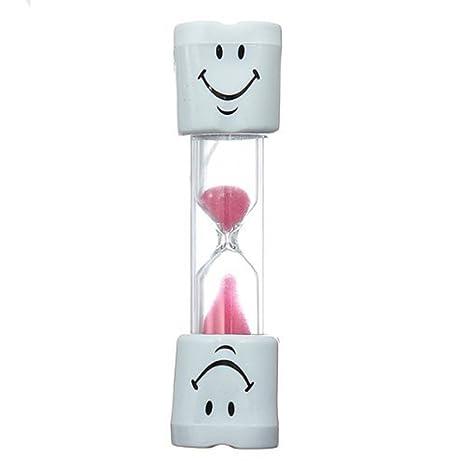 NiceButy rosa Kids Cepillo de dientes temporizador de 2 minutos Smiley arena temporizador
