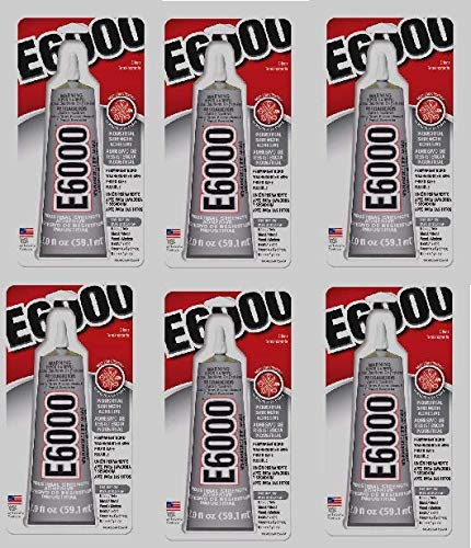 Eclectic Products 237032 6 Pack E-6000 Craft Adhesive Tube, Clear, 2-Ounce by E6000 (Image #1)