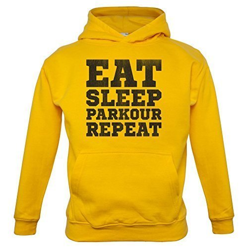 EAT SLEEP Parkour REPETIR - Infantil/Sudadera infantil-9 COLORES - Edad 1-